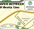 Trail reopens betweeen Gerrie Rd and Beatty Line