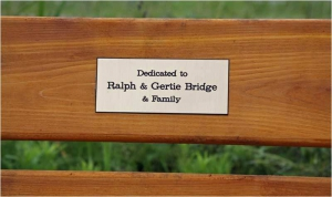 Ralph & Gertie Bridge Plaque