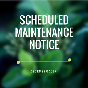 Scheduled Maintenance Notice